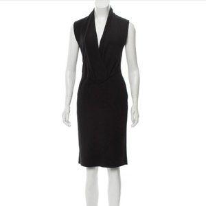 Givenchy Black Wool-Blend Midi Dress M